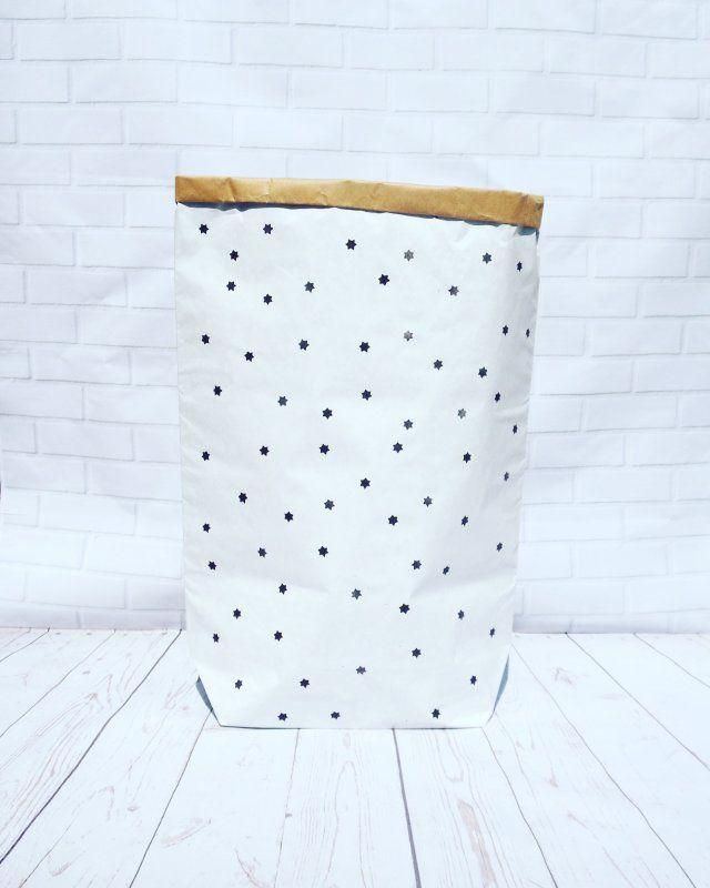 Worek papierowy  torba papierowa GWIAZDKI XL- 90 cm 45 zl