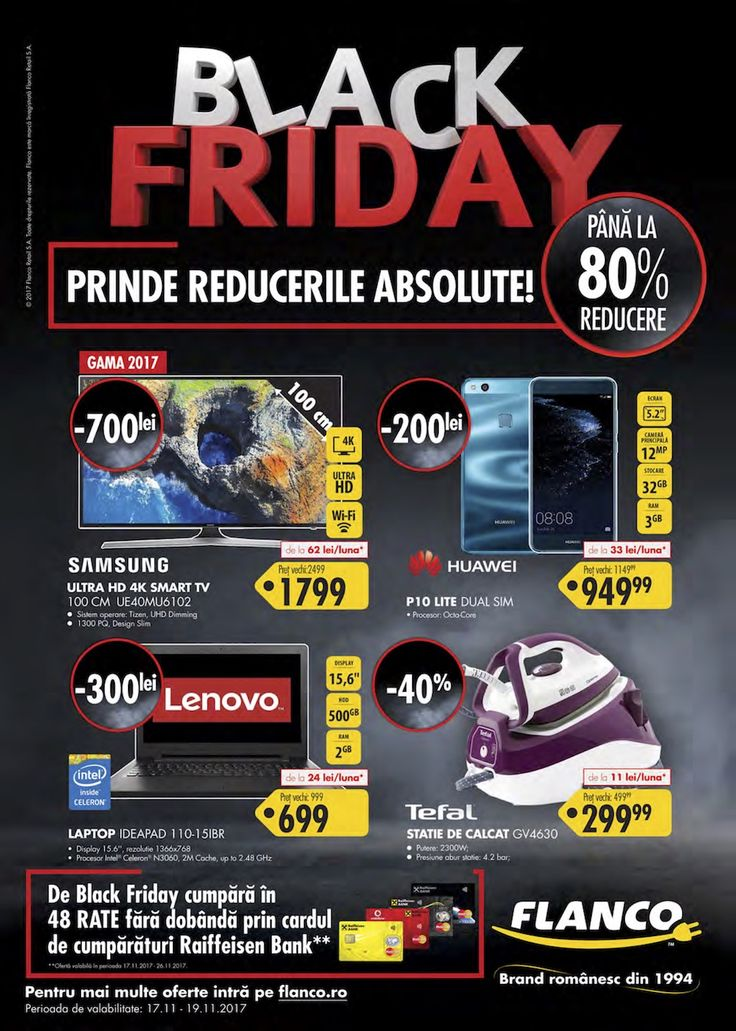 Catalogul Black Friday 2017 - Flanco . Începând cu miezul nopții, Flanco.ro dă startul pentru runda 2 de Black Friday 2017, iar ofertele sunt cât de cât interesante.         ... https://www.gadget-review.ro/catalog-black-friday-2017-flanco/