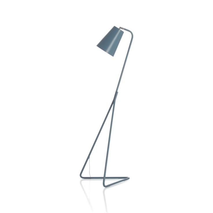 Mick Blue Floor Lamp  | Crate and Barrel. $149. Also in yellow. Also in grey/brown.