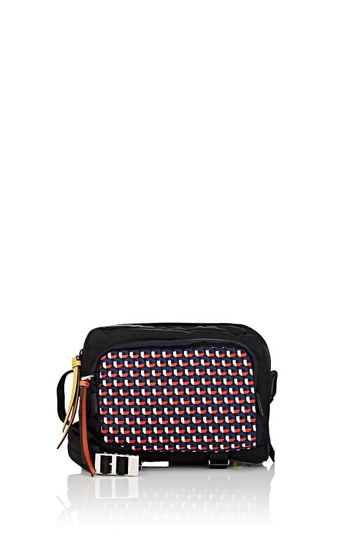 PRADA Print-Front Small Camera Bag.  prada  bags  shoulder bags  leather   denim  nylon   fdbfaaae25a41