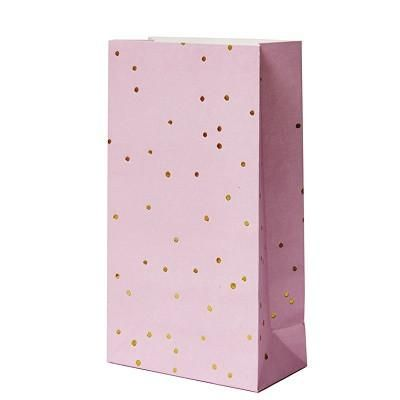 Pink & Gold Spot Party Bags (10 pack)