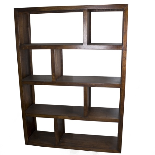 Wicker Emporium: Michigan Acacia Multi Floor Shelf. These would replace this book cases on either side of the fireplace.