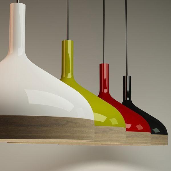 Stylish Combination of Wood&Porcelain: Plera Pendant Lamp 2; #porcelain: #lamps; #interior