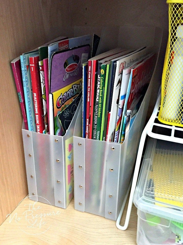 Such A Great Way To Organize Coloring Books Creativeartsandcraftsforkids Coloring Book Storage Organization Kids Kids Craft Supplies