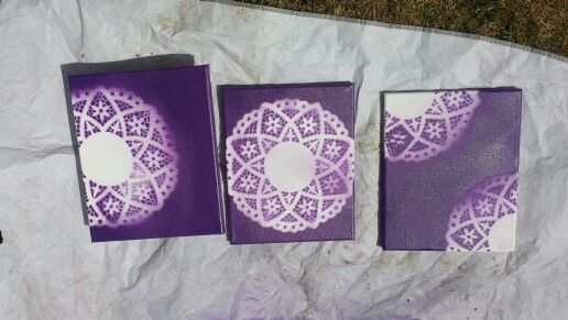 Doily canvases!