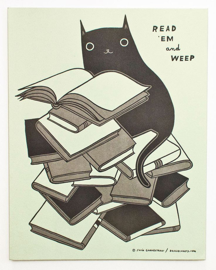Read 'Em and Weep - Letterpress Print for Book Lovers – the boygirlparty shop