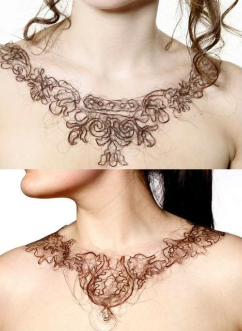 human hair necklace..