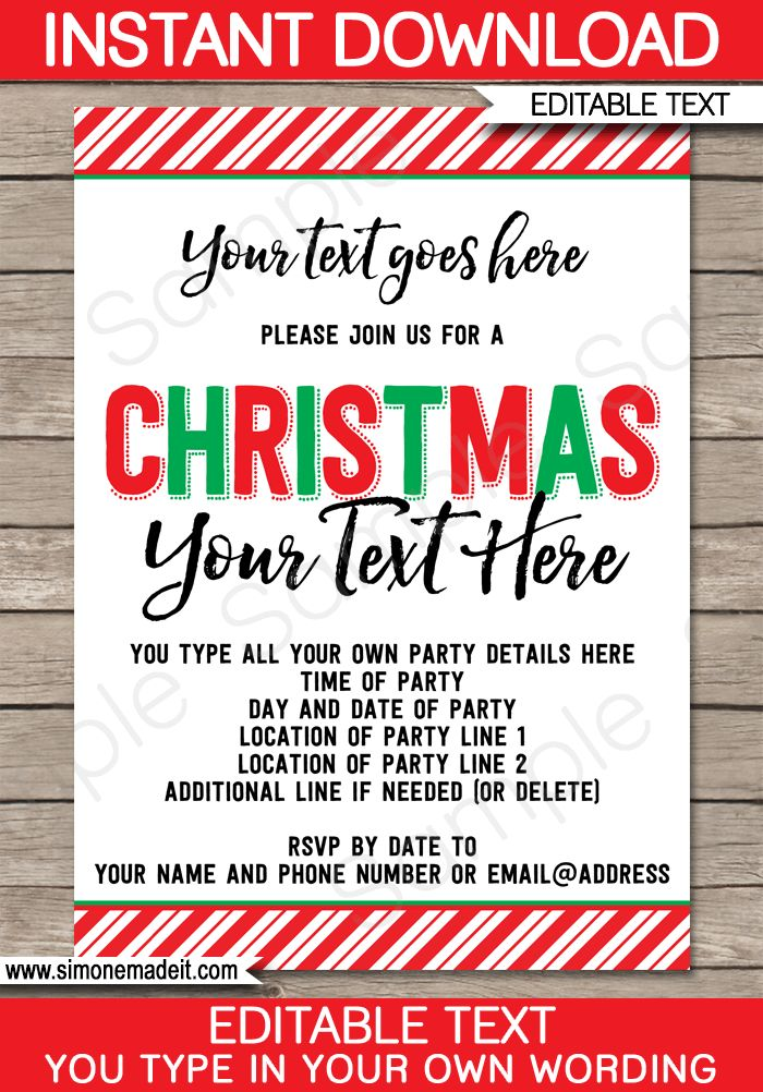 Best 25+ Christmas party invitation template ideas on Pinterest - christmas party ticket template free