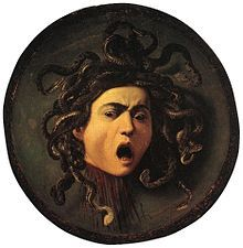 La Gorgone Méduse - Le Caravage - 1597