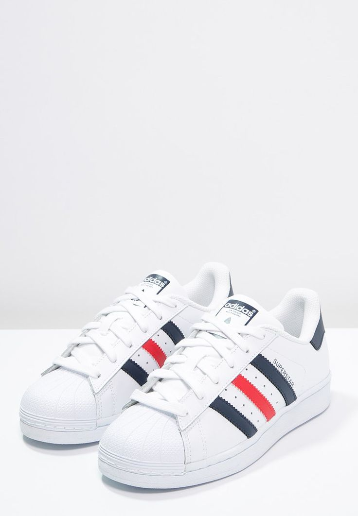 Lage sneakers adidas Originals SUPERSTAR FOUNDATION - Sneakers laag -  white/collegiate navy/red