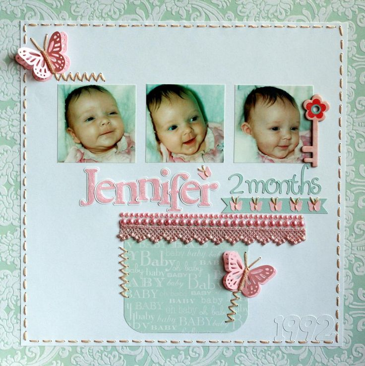 90 Best Baby Girl Scrapbook Ideas Images On Pinterest Scrapbooking
