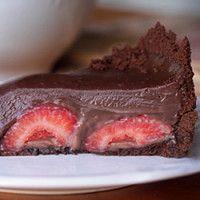 Torta oasis de chocolate e morango