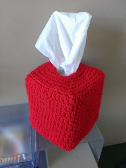 this pattern is to make a cute tissue box cover the pattern includes to