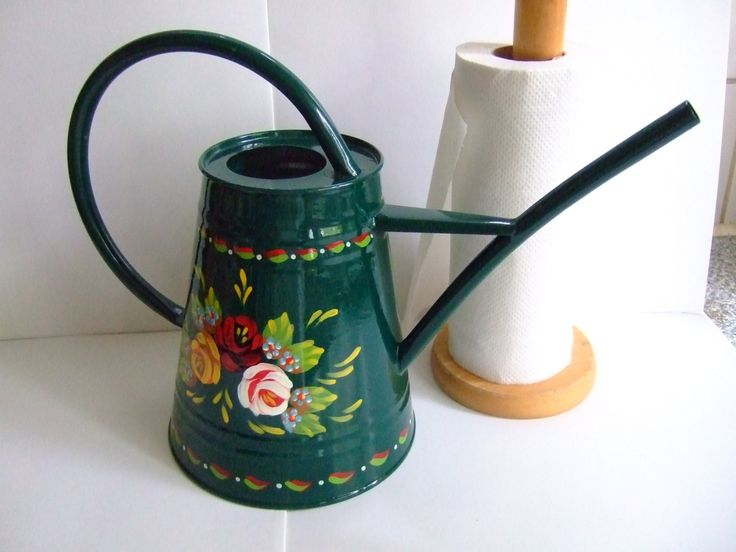 Hand-Painted Traditional Canal Art ~ Small Watering Can or Vase / Planter by Carishei on Etsy https://www.etsy.com/listing/202445881/hand-painted-traditional-canal-art-small