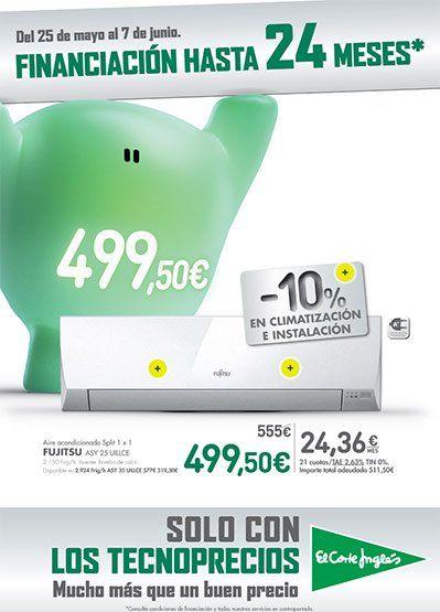 Ofertas en tecnología en El Corte Inglés del 25 al 7 de Junio -  Folleto de ofertas El Corte Inglés del 25 de mayo al 7 de Junio de 2017 LLega el calor y El Corte Inglés se llena de aires acondicionados para que pases un verano fresquito: Aire Acondicionado Fujitsu ASY 25 UILLCE por 499,50 También destacamos la oferta en la mejor lavadora de carga... #CatálogosElCorteInglés, #Catálogosonline, #ProductosElCorteInglés  #Fujitsu Ver en la web : https://ofertassuperm