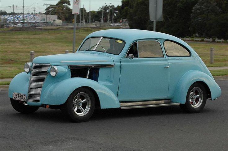 1938 Holden built Chevrolet sloper hot rod.
