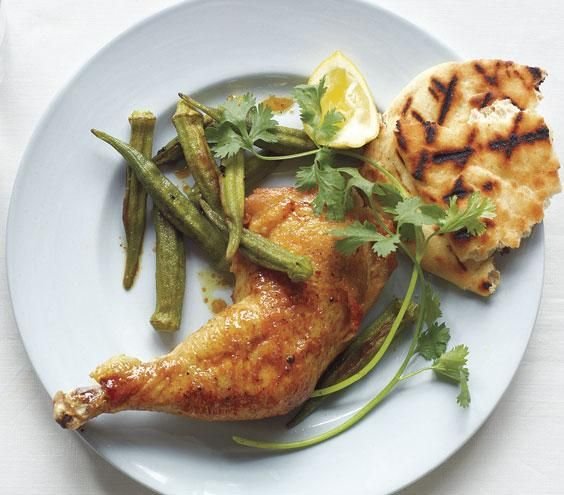 Curry-Roasted Chicken and Okra recipe