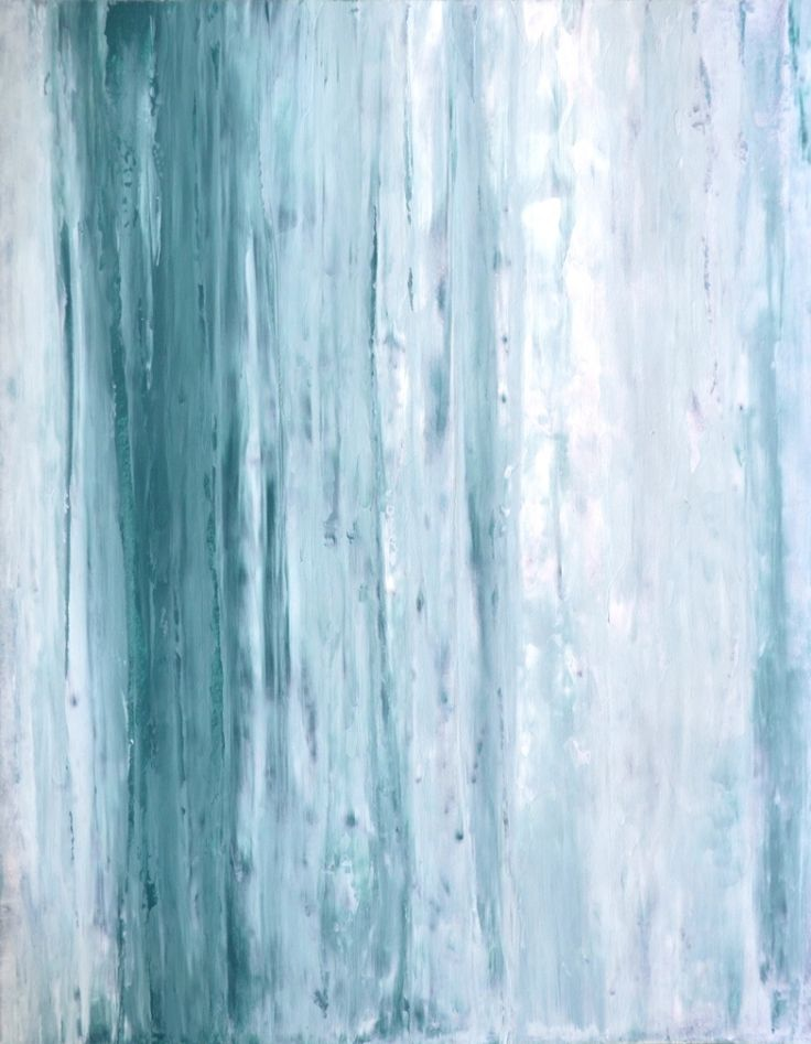 """Teal and White Abstract Art Painting - 11"""" x 14"""""""