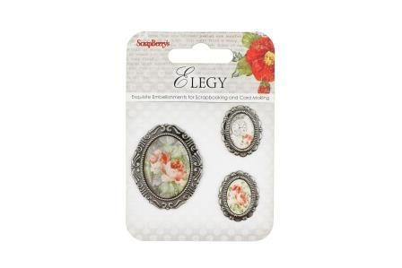 ScrapBerry's: Set of decorative elements Elegy