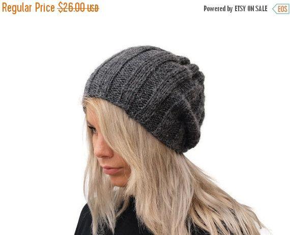 ON SALE Dark Grey Women Hat / Knit Dark Grey Hat by EPSILONstudio