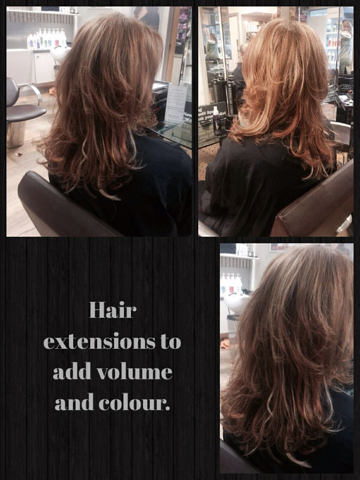This gorgeous set of extensions were used to add volume and movement to this clients hair as the hair is fine and often falls flat. - Hair by Hollie