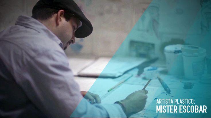 Mister Escobar, surf artist, arte gran formato mr. escobar guadalajara mexico surf art, carlos escobar.