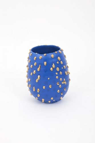 Blue-slipped Gold-drop bowl - Takuro Kuwata - Salon 94