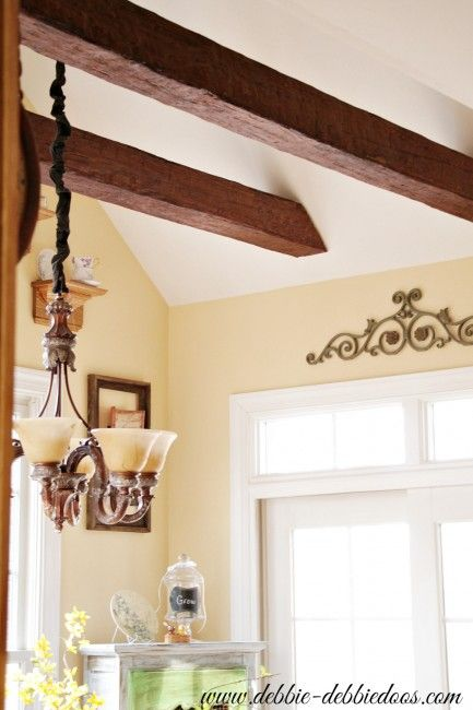 Best 25 fake beams on ceiling ideas on pinterest fake for Decorative beams in kitchen