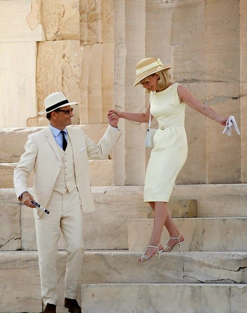 Viggo Mortensen and Kirsten Dunst are a wealthy American couple in the thriller, The Two Faces of January, traveling in 1962 Greece