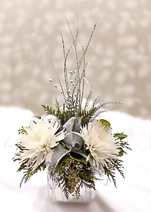 white flowers and branch long and low arrangements - Google Search