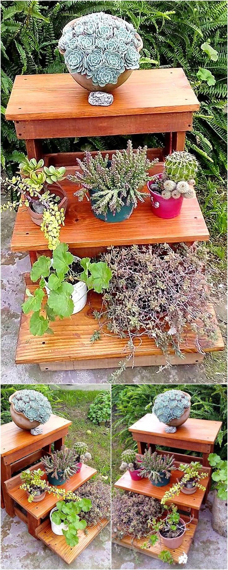 recycled wood pallet planter idea