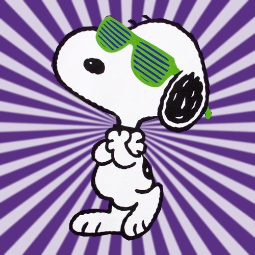Joe Cool....Snoopy really is