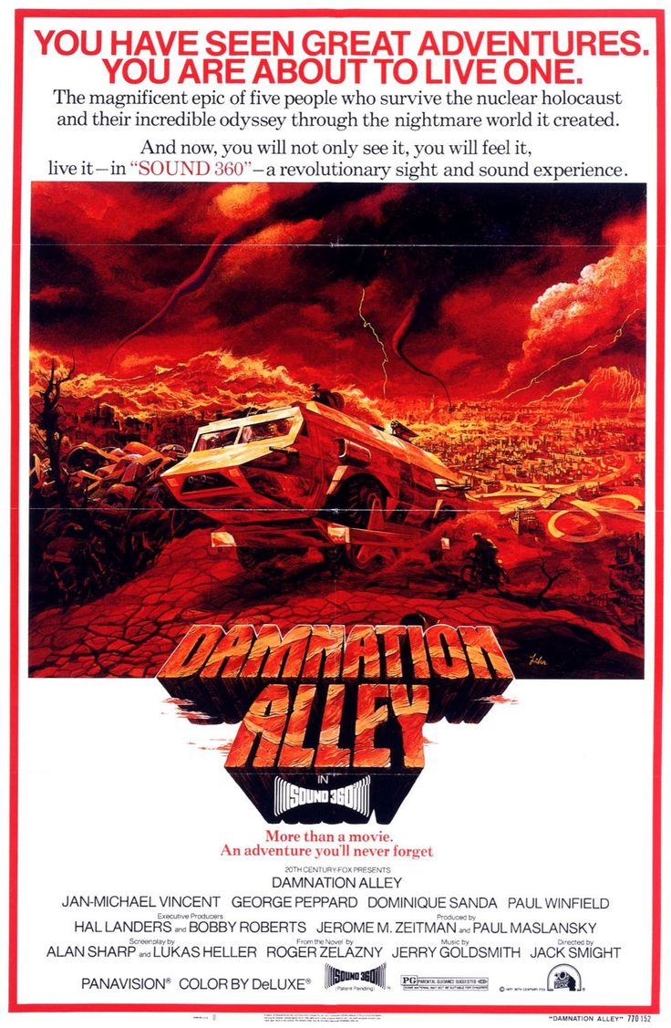 Damnation Alley - 1977- amazing movie-- how Star Wars was more successful is beyond me.