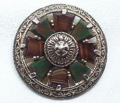 VINTAGE SCOTTISH CELTIC BRONZE FAUX AGATE BROOCH/PIN MIRACLE COSTUME JEWELLERY in Jewellery & Watches, Vintage & Antique Jewellery, Vintage Costume Jewellery SOLD.