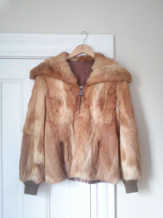 Vintage Retro City Fur/ Rabbit Fur Jacket / by JulesCristenVintage