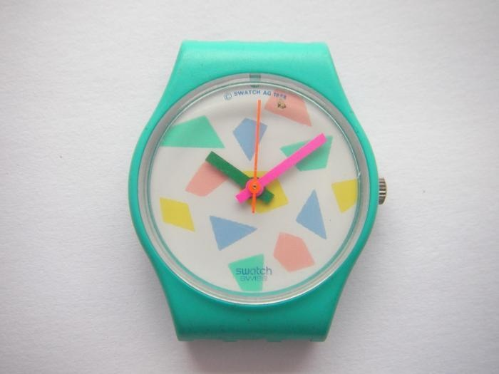 "Swatch Dummy LL104 ""Pink Lolly"" 1988 watch case"