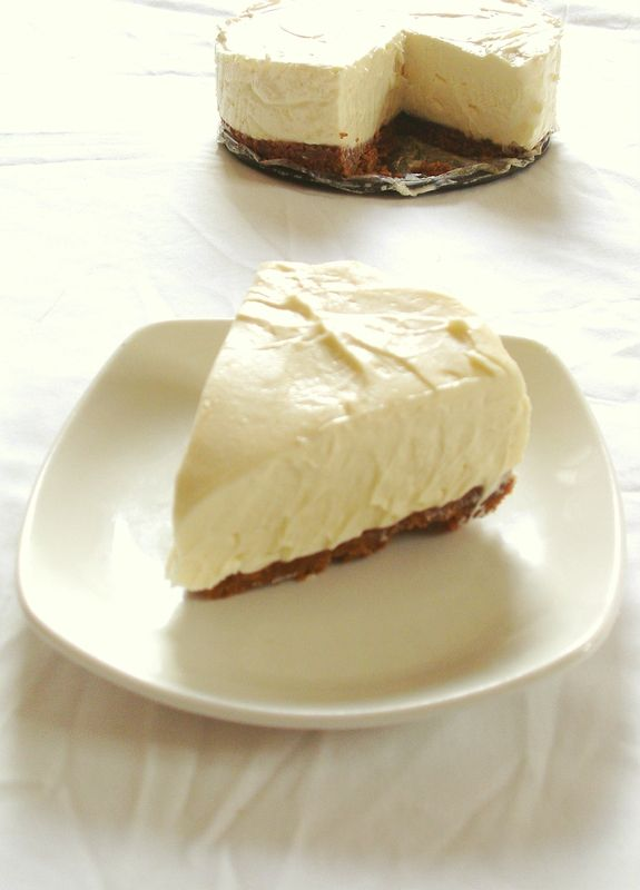 Cheesecake au chocolat blanc et aux spéculoos