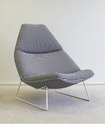 Geoffrey Harcourt; Enameled Metal Lounge Chair for Artifort, 1960s.
