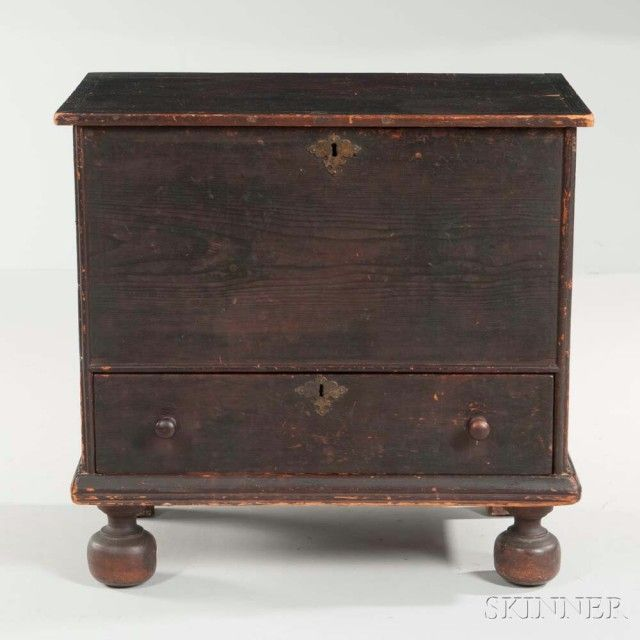 Spanish Brown Painted Pine Small Chest Over Drawer   Sale Number 2961B, Lot  Number. Pine FurnitureAntique ...