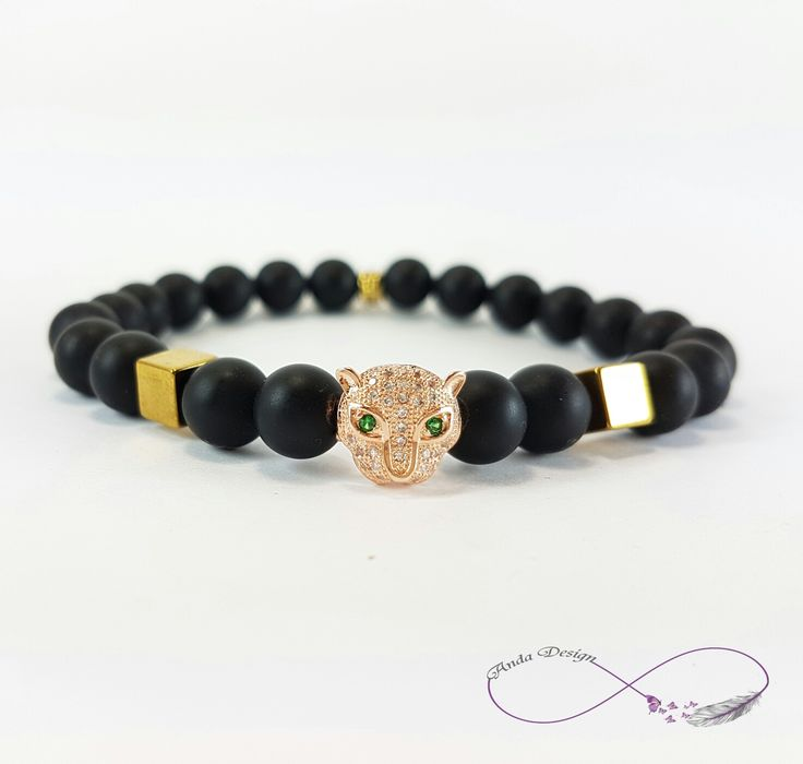 Gamestone, bracelet, agate, cirkon, Cz crystal, leopard