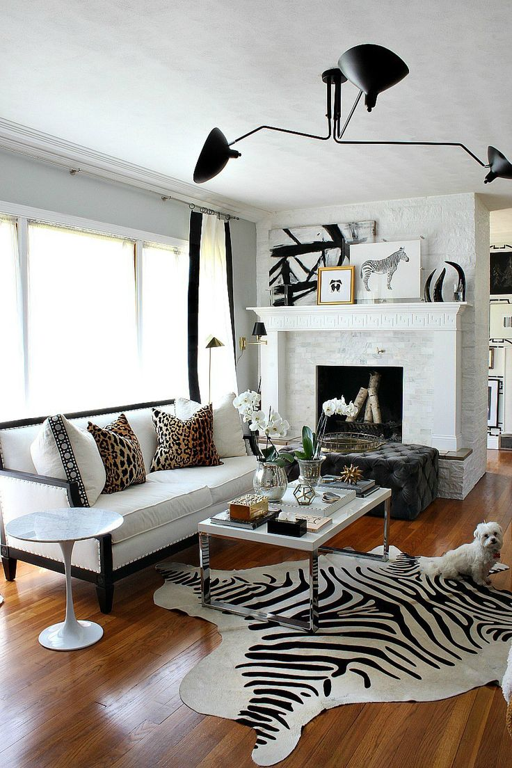 Design blogger Kristin Cadwallader's living room via Bliss at Home