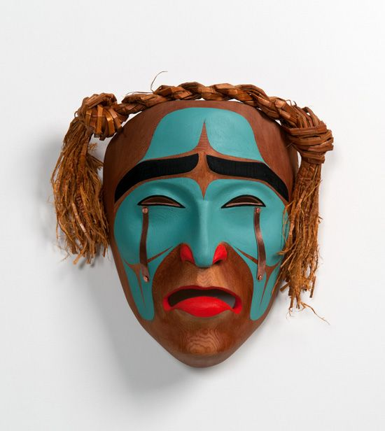 Beau Dick, Red Cedar Mourning Mask, Northwest Coast Native Art