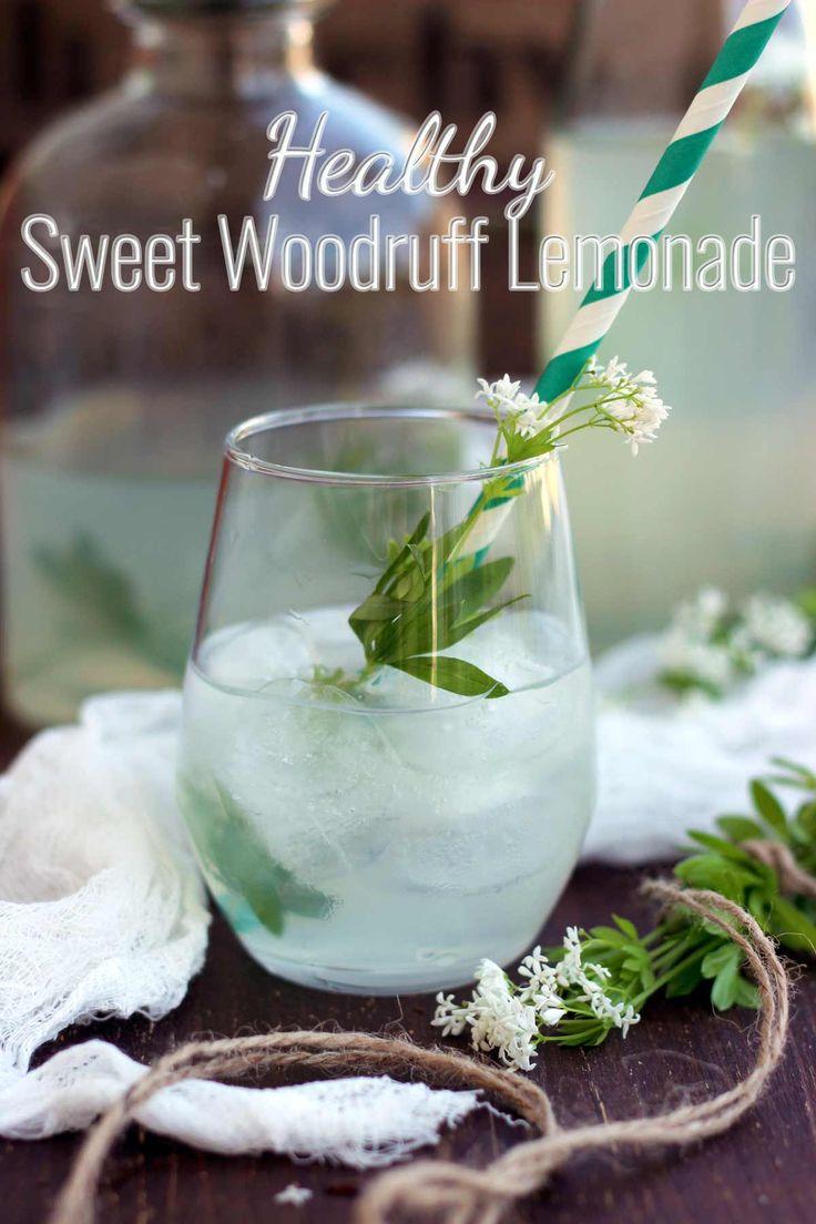 Healthy Sweet Woodruff Lemonade Recipe: Refreshing, flavorful and fragrant summer drink made with sweet woodruff, lemon, honey and water.