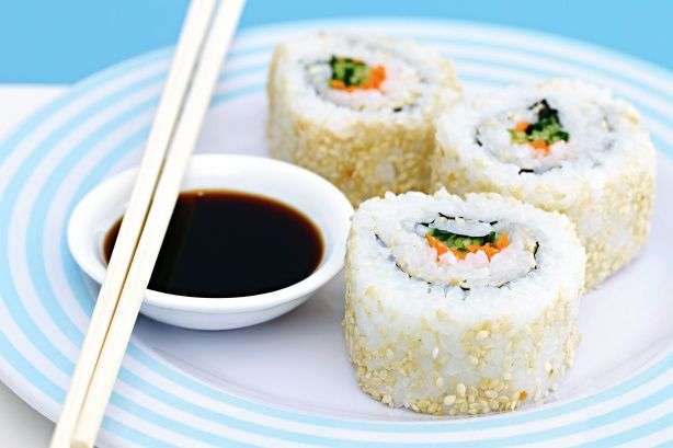 Show off your sushi skills with this inside-out version.
