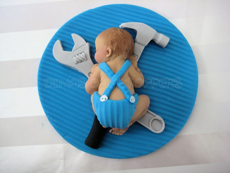 Baby Shower FONDANT BABY  Tools Daddy's Little Helper. $25.00, via Etsy.