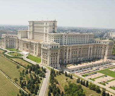 Biggest Parliament: Palace of the Parliament, Bucharest.