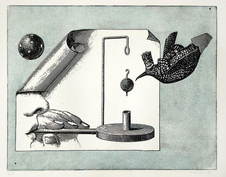 De nuestro artista de la semana en la exposición El Ojo Surrealista:  Max Ernst, Sin título, 1972.  Aguafuerte y Aguatinta. Colección Georges Visat.