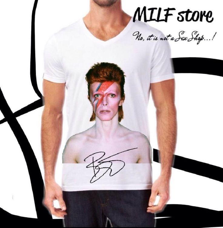 David Bowie T-Shirts For Men  #MILFstore #VNeck