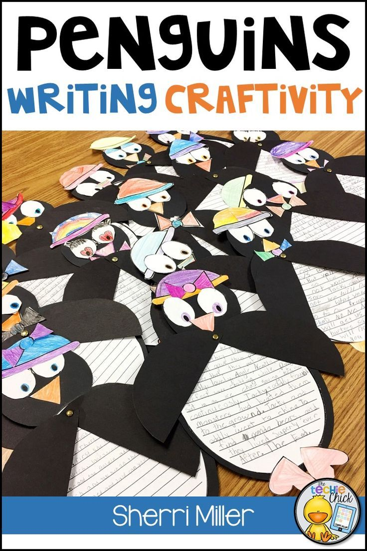 This Penguin Writing Craftivity is a writing project that includes both fiction and nonfiction prompts and can be used in a center or as a whole group activity. After students use a prompt to write, they will create a cute penguin with moveable arms that is perfect for display in a classroom or bulletin board. Three different types of writing paper are included - primary lines, lined paper and blank paper for pictures.