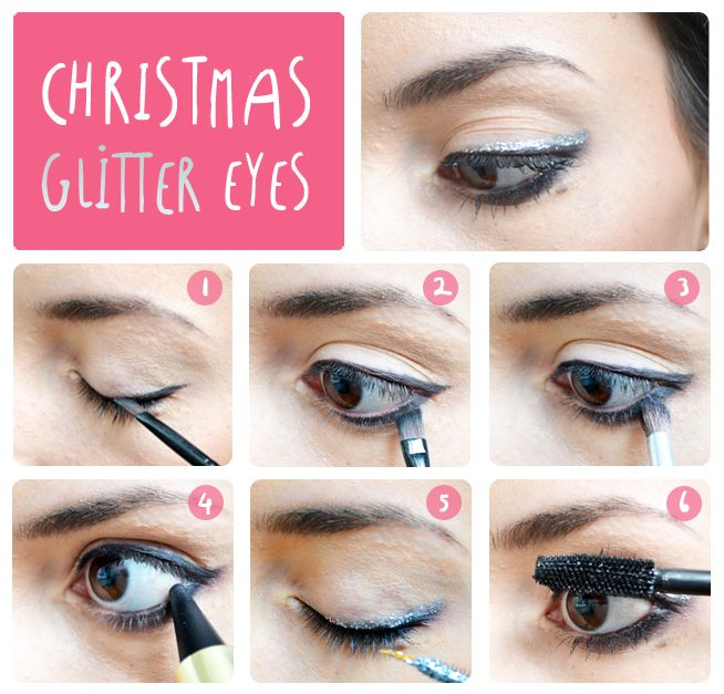 Christmas Glitter Eyes http://lejoliblog.com/2014/12/21/maquillage-fetes/